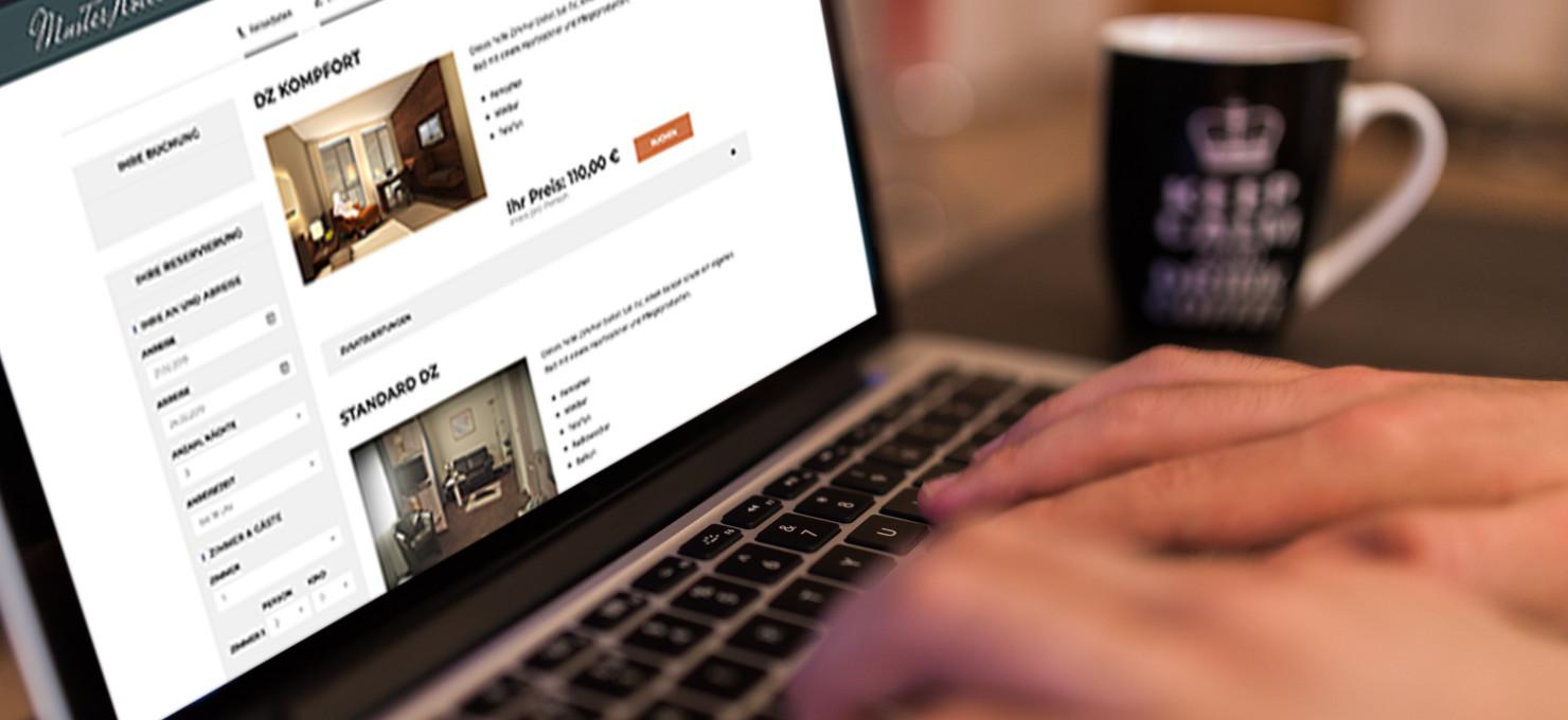 Buchungsmaske Online Buchen