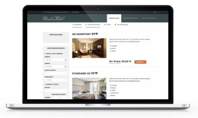 Hotelbuchungen Online Buchungsmaske